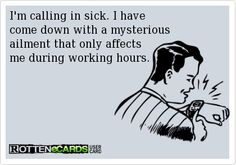 The Funniest Reasons for Calling in Sick