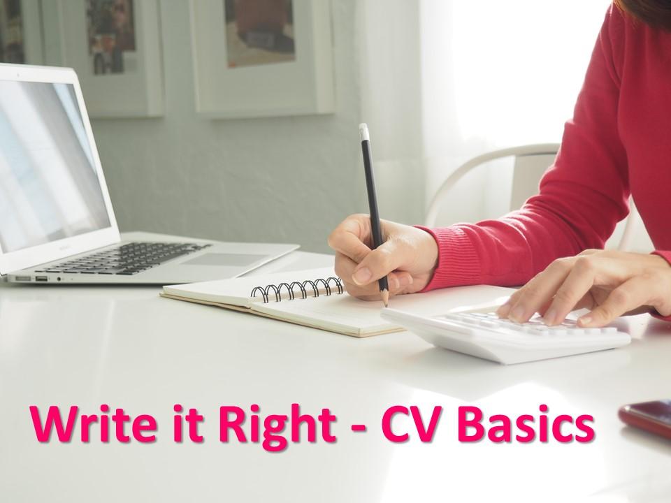 CV Writing Basics